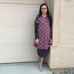 Lularoe Carly Printed Dress